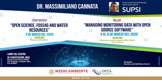 "Conferencia: ""Open Science, FOSS4G and water resources"" y Taller"